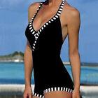 Vintage Femme Pièce Unique Maillot De Bain Bikini Remontant Bandage Monokini