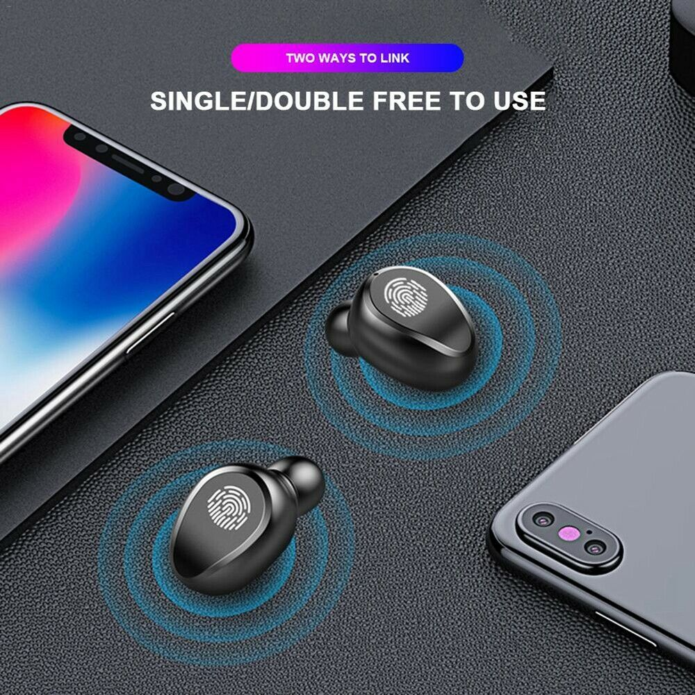 Bluetooth 5.0 Headset TWS Wireless Earphones Mini Earbuds IPX6 Stereo Headphones 5