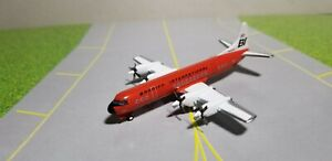 """JET-X 400 BRANIFF """"RED"""" L-188 """"ELECTRA"""" 1:400 SCALE DIECAST METAL MODEL"""