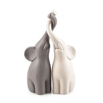 Verliebte Elefanten Keramik Set 25,5cm Muttertag Geschenk Freundin Weihnachten