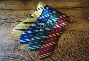 Harry-Potter-Style-House-Ties-Fancy-Dress-Cosplay-Film-Replica-World-Book-Day-UK