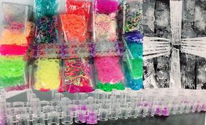 9000-Loom-band-kit-Multi-Glitter-Caoutchouc-Bandes-Kids-A-faire-soi-meme-Craft-Bracelet-Set-Complet