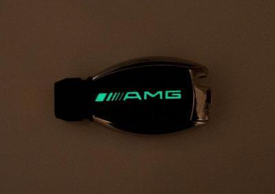 Glow in the dark Mercedes E W211 W212 W207 AMG Brabus carbon fiber key sticker