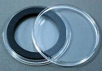 20 Airtite 30mm Black Ring Coin Holder Capsules For Half Dollars