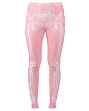 IRON FIST Wishbone Leggings XL PINK & White X-Ray~Skeleton~NWT!