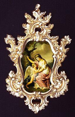 Wall decor. Eros and Psyche in Baroque//Rococo frame Var.2
