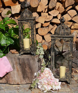 Laterne kerze gartenlaterne garten gartenleuchte glas lampe windlicht leuchte ebay - Laterne garten kerze ...