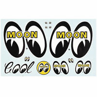 Mooneyes Original Sticker Sheet Moon Gm Hot Rod Metalflake Decal Rock Ford Chevy