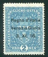 1918 Italia Occupazioni Venezia Giulia Espresso 2 k azzurro nuovo * TL cert.