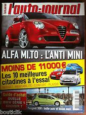L'AUTO-JOURNAL du 27/03/2008; Alfa Mi.To/ Les 10 meilleurs citadine à l'essai
