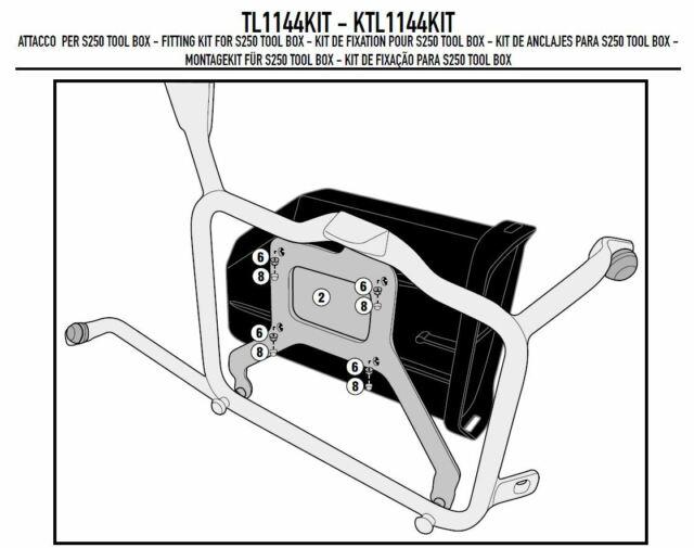 TL1144KIT GIVI Set Fijación S250 Herramientas Caja Para PLR1144 > Honda Crf 1000