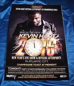Kevin Hart New Years Eve 2015-16 Atlantic City Sign Poster ...