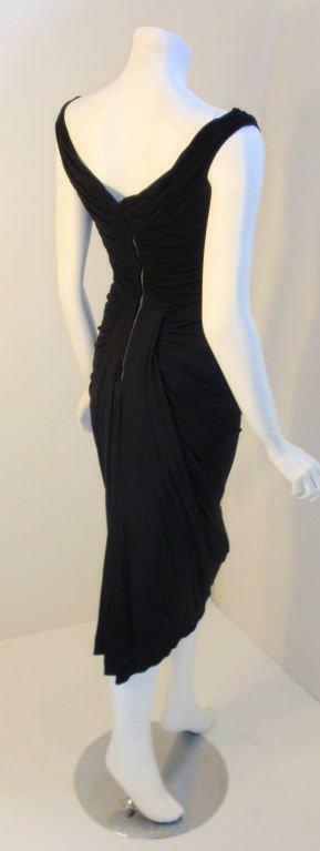 CEIL CHAPMAN 1940s Vintage Black Cocktail Dress - image 5
