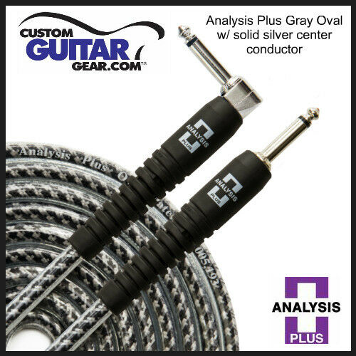 Analysis Plus 30ft GRAY Oval Guitar / Bass Cable with Straight/Straight Plugs