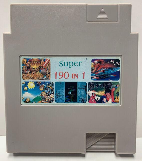 Super 190 In 1 Multicart Game Nintendo NES Vintage Cartridge Only Clean & Tested