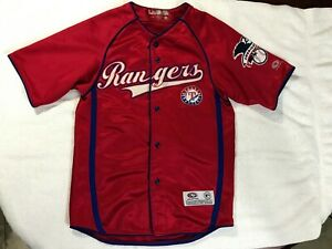 Texas-Rangers-True-Fan-Youth-Size-Medium-Stitched-Baseball-Jersey-American-Leag