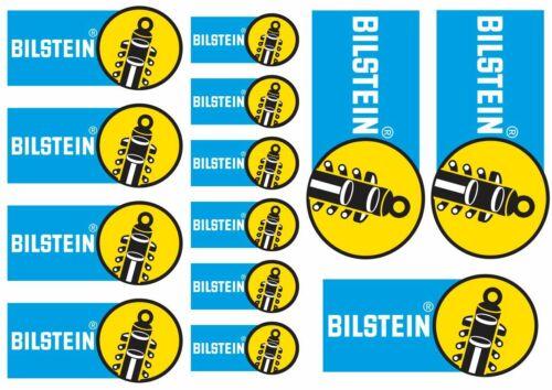 BILSTEIN Decal Set Quality Sticker Vinyl Graphic Logo Adhesive Kit 13 Pcs