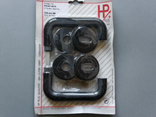 Sonderposten 2.Wahl HP-Türbeschlag BB WC oder Knopf Rosette Kunststoff schwarz