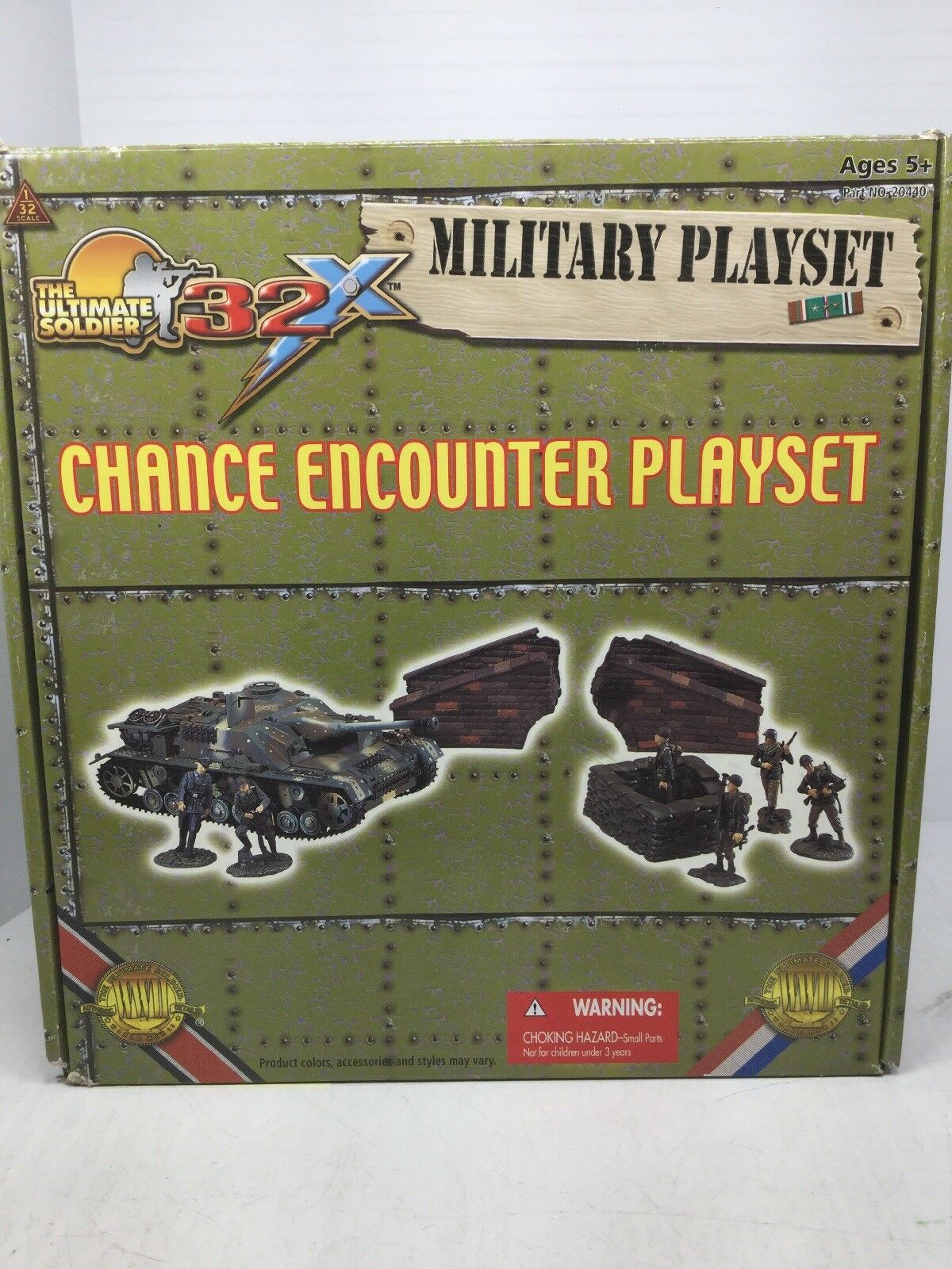1/32 Scale Ultimate Soldier CHANCE ENCOUNTER German /US Playset STUG WW2 NOOB