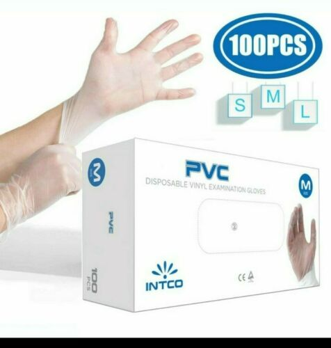 100Pcs Nitrile Disposable Gloves Tearproof Antibacterial Safety Stretchy LARG