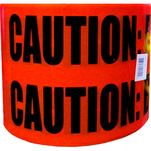 """IDEAL 42-151 6/"""" RED CAUTION TAPE MARKED CAUTION ELECTRIC LINE BELOW  NEW"""
