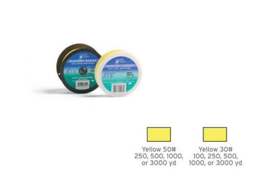 Yellow SA XTS GEL SPUN Fly Line Backing 30 lb Test 100 to 3,000 Yd Spools