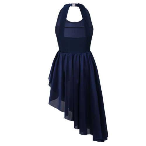 Details about  /US Girls Dance Dress Ballerina Gymnastics Latin Kids Sequined Skirts Dancewear