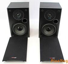 Polk Audio T15 2 Way 100 Watt Bookshelf Wall Mount Speakers Pair Black