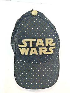 💗NWT💗 Star Wars Black W  Gold Sparkle Bling Dot Hat Cap One Size ... b8b0d7604f4e