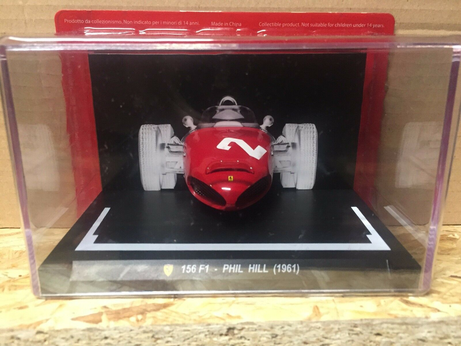 Die Cast Musetti Ferrari  156 F1 - Phill Hill (1961)  Escala 1 18 Test
