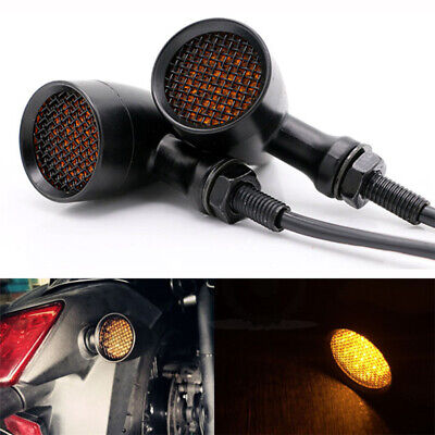 4Pcs 15 LED Mini Motorcycle Turn Signal Lights Blinker Indicator Amber Light DC 12V