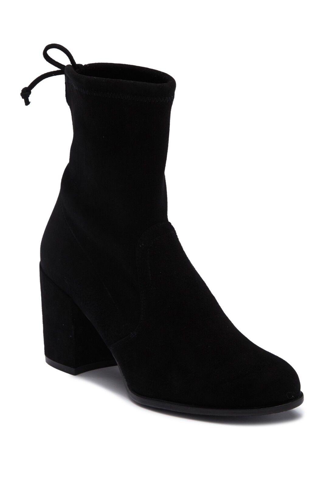 vendita calda New Stuart Weitzman Shorty Block Block Block Heel avvio nero Suede Dimensione 7.5  comprare sconti