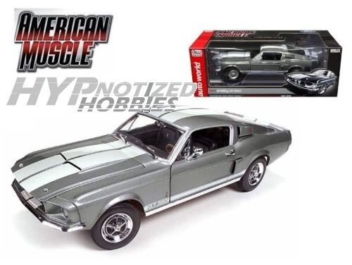 Auto World 1 18 1967 Shelby Gt-350 Die-Cast Gris 50 Aniv. Amm1060