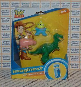 Imaginext-Disney-Pixar-Toy-Story-REX-HAMM-amp-ALIEN-Figure-Pack-Fisher-Price-GFT03