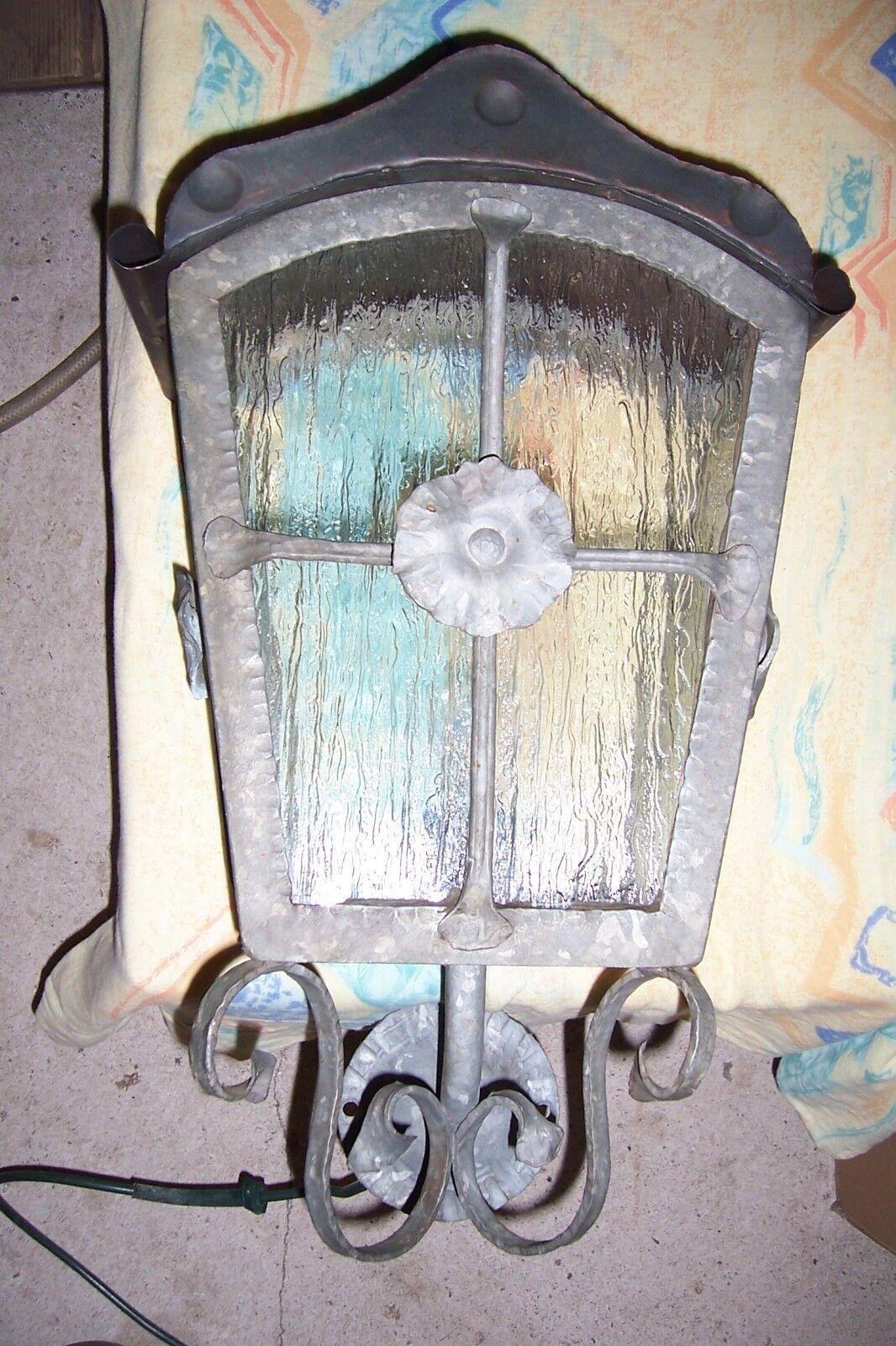 Wandlampe antik rustikal Schmiedekunst Hoflampe Terrassenlampe Leuchte außen