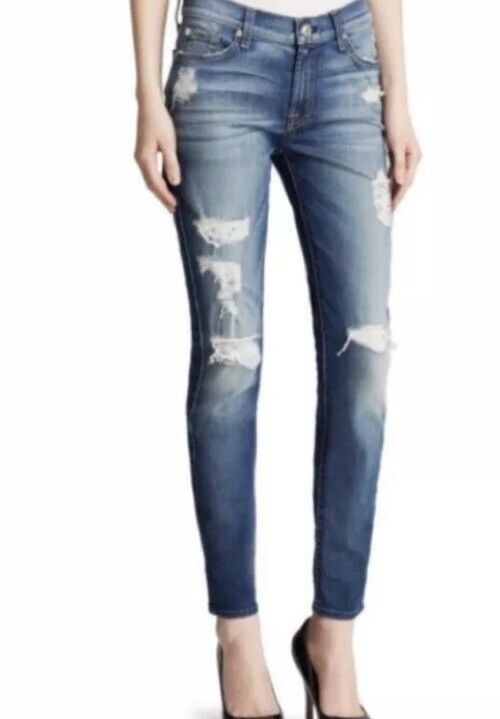 Seven Jeans. Skinny Destructed Ankle. Size 25. Retail-