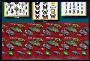 ISRAEL-2020-STEINHARDT-MUSEUM-OF-NATURAL-HISTORY-BEETLES-SHEET-8-STAMPS-MNH