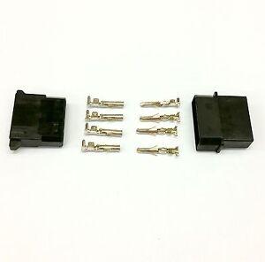 PK OF 10-4 PIN MOLEX PSU POWER CONNECTOR PASSTHRU MALE//FEMALE-BLACK INC PINS