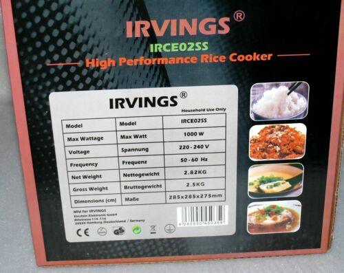 IRCE02SS Multi Reiskocher Gemüse Dampf Garer Schnell Kochtopf 2,2L 1000W Kupfer  snFu6