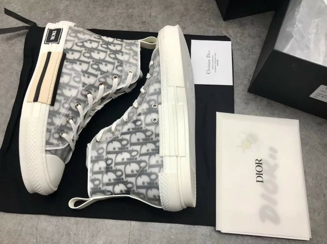 DIOR Men Sneakers High top In Dior Oblique Size 44 11 US SOLD OUT