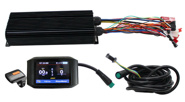 EBIKE 48-72V 1500W 15 MOSFET 40A eBike Intelligent Controller & color Dsiplay