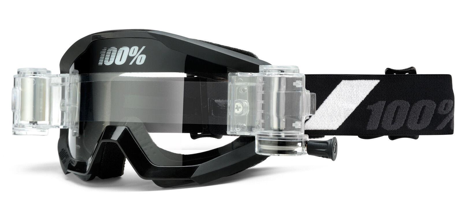 100% STRATA SVS CON ROLL ROLL ROLL OFF atenuación Goliath Gafas Mx Motocross Enduro Quad 14da5b