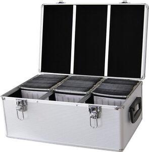 DynaSun-CD-510-DVD-DJ-Flight-Carry-Case-Aluminium-Case-Holder-Disc-Storage-Box