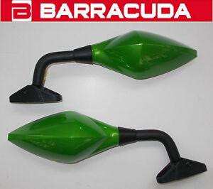 BARRACUDA-COPPIA-DI-SPECCHIETTI-RETROVISORI-RACE-VERDI-PER-HONDA-CBR-600-RR