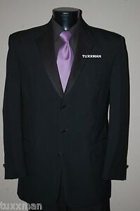 58 L Black Chaps Ralph Lauren This years stlyle Tuxedo Wedding Prom Tux