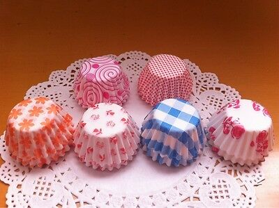 3 Pack 300 PCS Paper Cake Cup Liners Baking Cupcake Cases Muffin Colorful 8.5CM