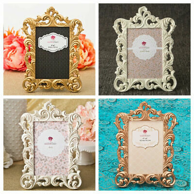 Baroque Style Picture Frames 4 x 6 or 5 x 7 Inch Assorted Colours New