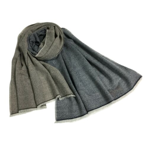 ARCIERI sciarpa uomo cm 70x200 60/% cashmere 40/% merinos MADE IN NEPAL