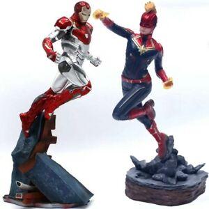 Le-Capitaine-Marvel-Thanos-Ironman-Spiderman-Deadpool-Danvers-Iron-Studios-Statue-Toy