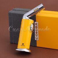 COHIBA  Butane Gas Lighter Windproof 1 Torch Jet Flame Cigarette Cigar Lighter